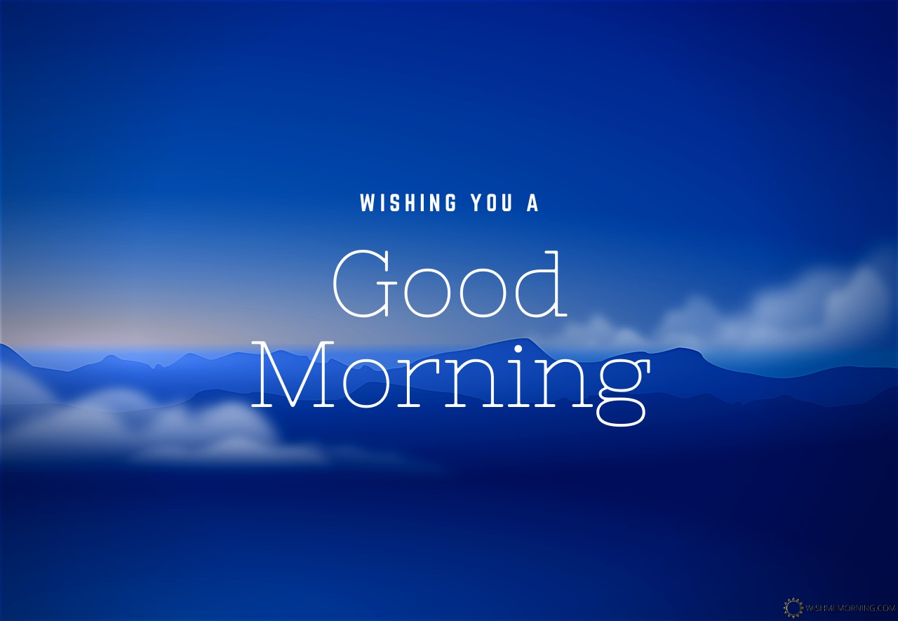 Dark Blue Sky With Mountains Good Morning Image