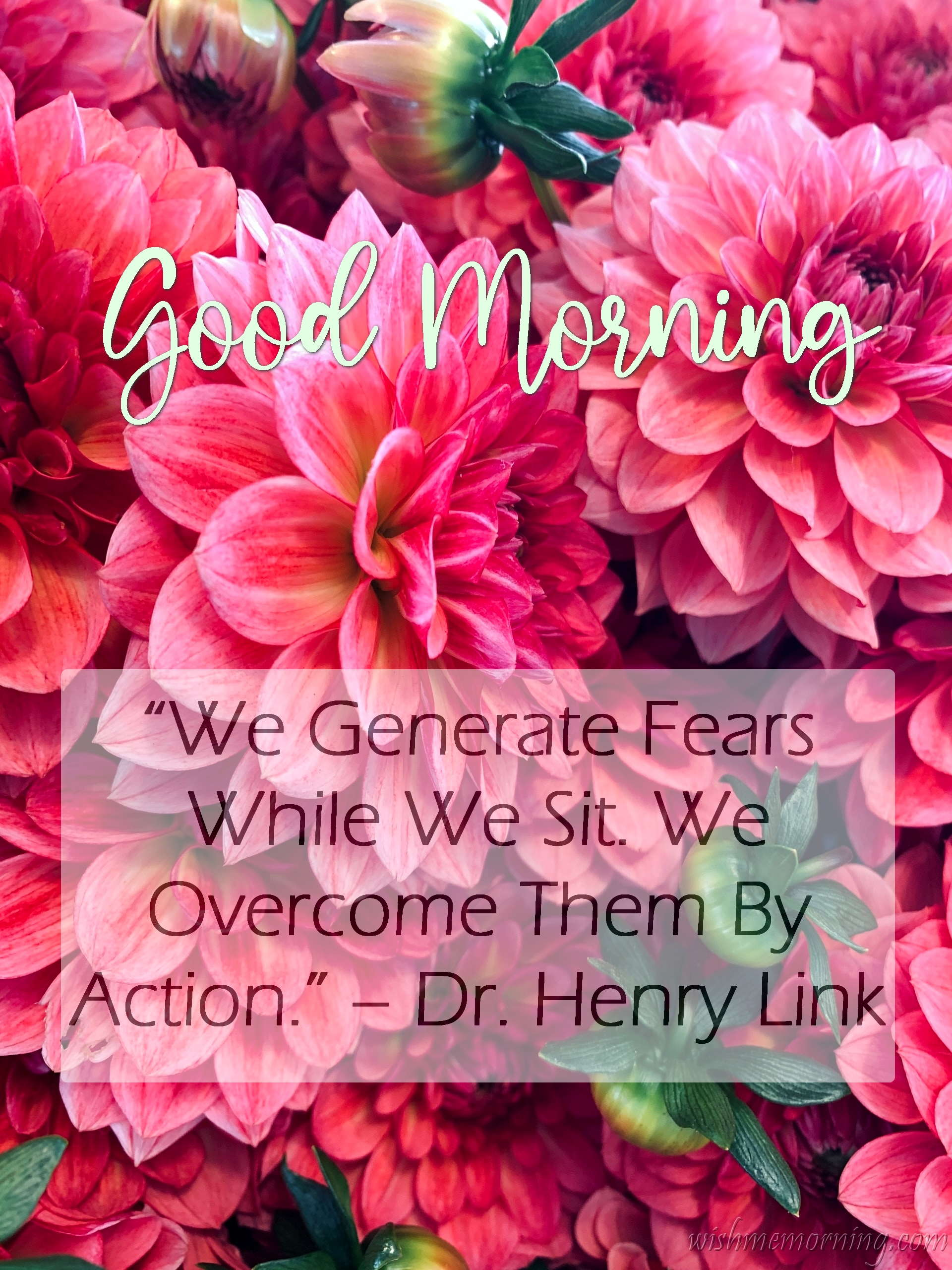 Good Morning Quote Dr. Henry Link Plants Background