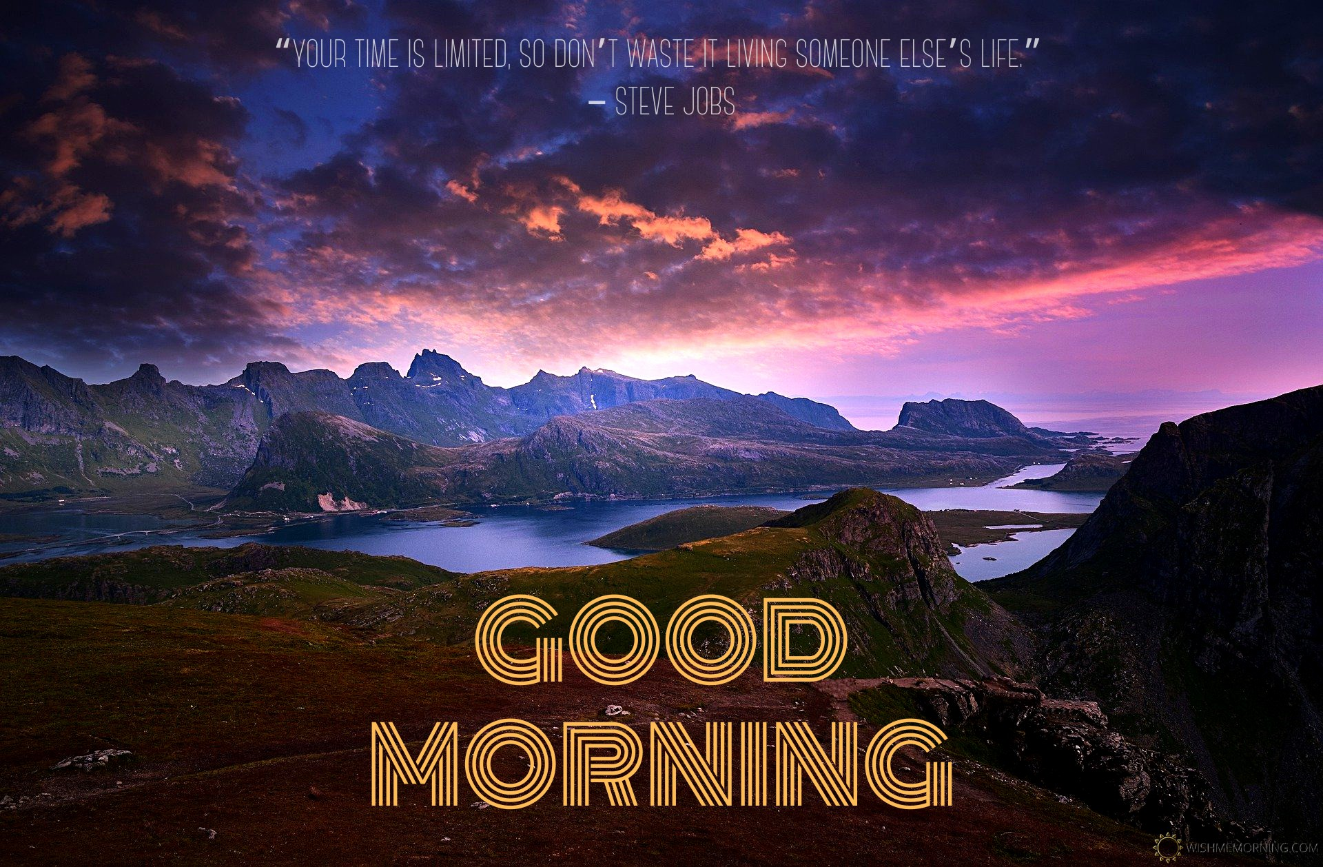 Red Clouds Over Mountain Morning Wish Image