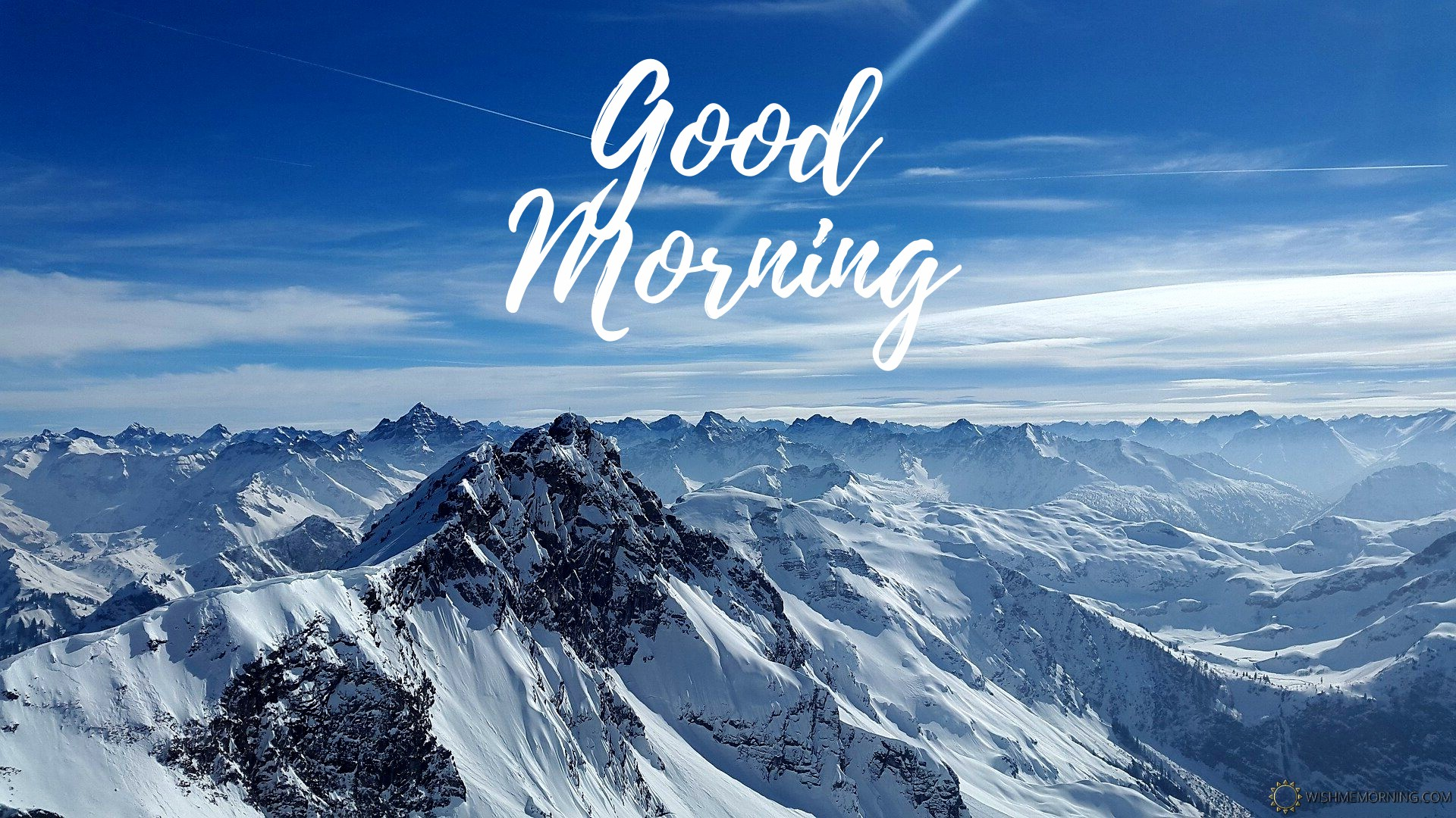 Rough Horn Good Morning Image Snowy Mountains